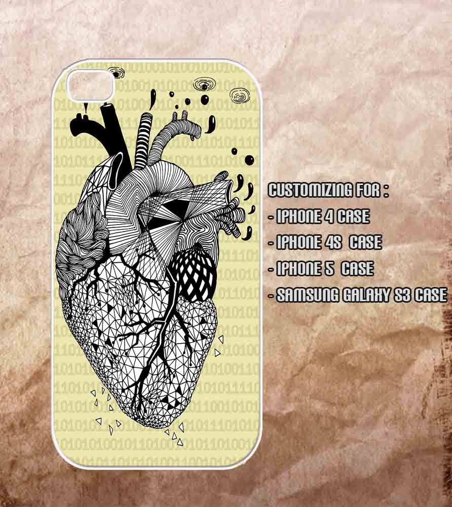 Heart Anatomy Art Iphone 4 Case , Iphone 4s Case , Iphone 5 Case And ...